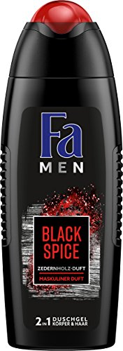 FA MEN 2in1 Duschgel Black Spice mit maskulinen Zedernholz-Duft, 6er Pack (6 x 250 ml)