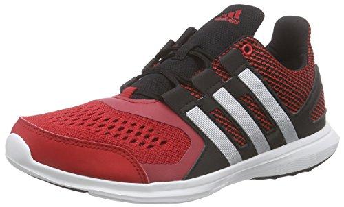 Adidas Hyperfast 2.0 K, Zapatillas de Running Unisex niños, Cblack/Msilve/Powred, 38 2/3 EU