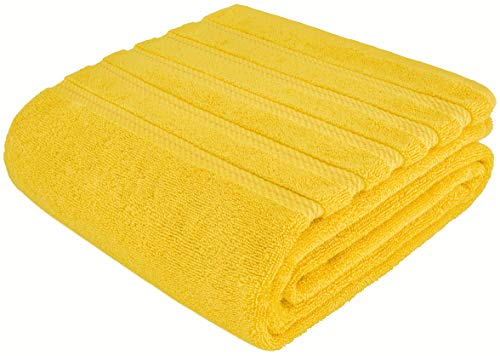 American Soft Linen 100% Ringspun Genuine Cotton Large, Turkish Jumbo Bath Towel 35x70 Premium & Luxury Towels for Bathroom, Maximum Softness & Absorbent Bath Sheet [Worth $34.95] - Yellow