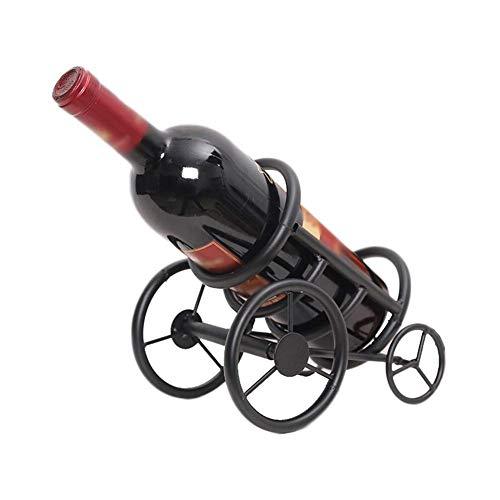 DAGONGREN Decoración del gabinete del Vino del Vintage del Estante de Encargo Creativo del Estilo Europeo (21 * 18 * 13.5cm) (Color : Black)