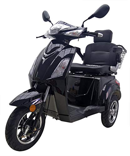 "Elektromobil ""VITA CARE 1000"", 25 km/h, Seniorenmobil, 60 Kilometer Reichweite, E-Roller, E-Scooter mit Straßenzulassung, Elektroroller, Senioren Elektromobil, Produktvideo, Schwarz"