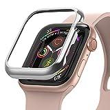 Ringke Bezel Styling Compatibile con Cover Apple Watch Serie 6, SE, 5, 4 44mm, Custodia Acciaio Inossidabile Antigraffio - Silver (44-101)