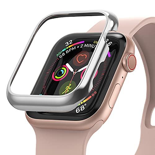 Ringke Bezel Styling Compatible con Funda Apple Watch 40mm, Carcasa Apple Watch Series 6 40mm, Funda Acero Inoxidable para Apple Watch Series 6/5/4/SE 40mm - 40-101 (ST) Silver