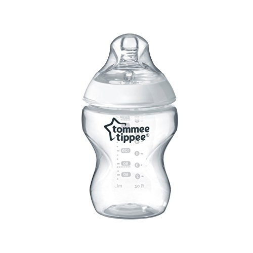 Tommee Tippee Closer to Nature Baby Bottle, Anti-Colic, Breast-like Nipple, BPA-Free - Slow Flow, 9 Ounce (1 Count)