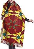 Bufanda de invierno para mujer, patrón de círculos coloridos, para mujer, grande, suave, sedoso, cachemira, chal
