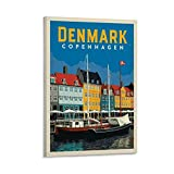 SANDYN Vintage-Reise-Poster, Dänemark, Kopenhagen,