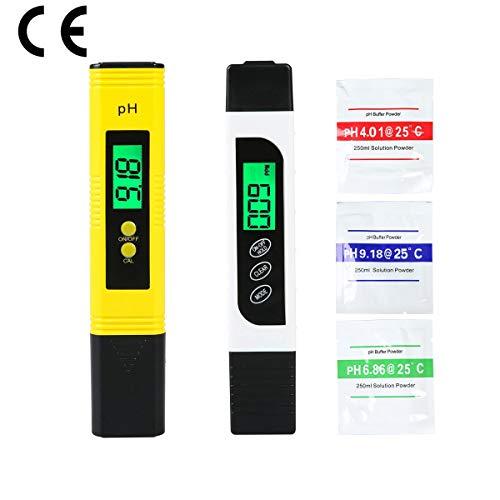 PH messgerät TDS & EC Meter, Wasserqualitätstest-Messgerät TDS PH EC Temperatur 4 in 1 Set, Digital Wasserqualitätstest Tester mit LCD Display, Digital TDS Messgerät für Trinkwasser, Schwimmbad usw.