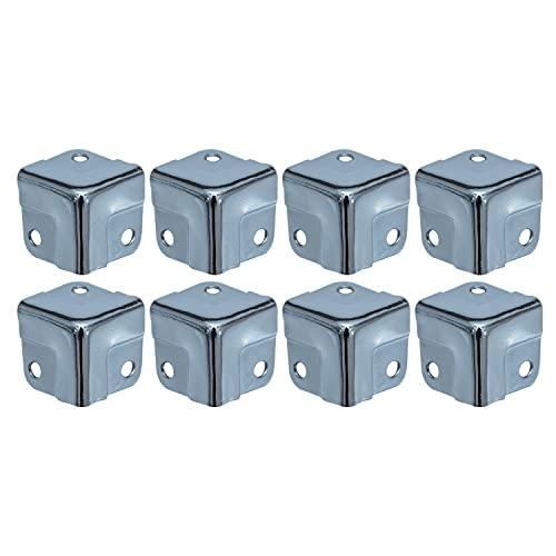 HMF 14965-09 Eckenschutz aus Metall für Koffer | 8 Stück | 18 x 18 x 18 mm | Silber verzinkt