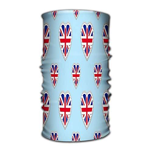Quintion Robeson Atmungsaktive Kopfbedeckung Großbritannien Flagge Großbritannien Flaggen Stiker Love Hearts Englischkurse Sportseiten Great Watermark