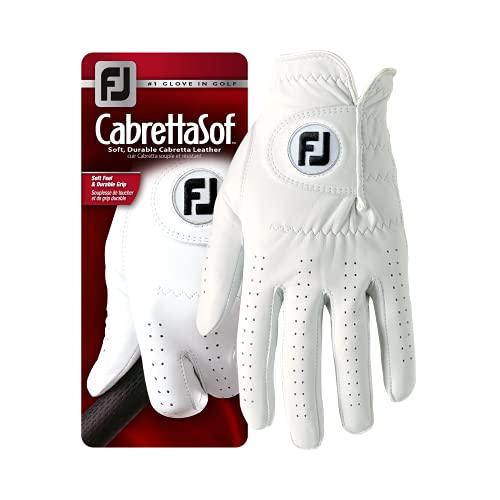 FootJoy Herren Golfhandschuh CabrettaSof für Linkshänder, Weiß, M/L