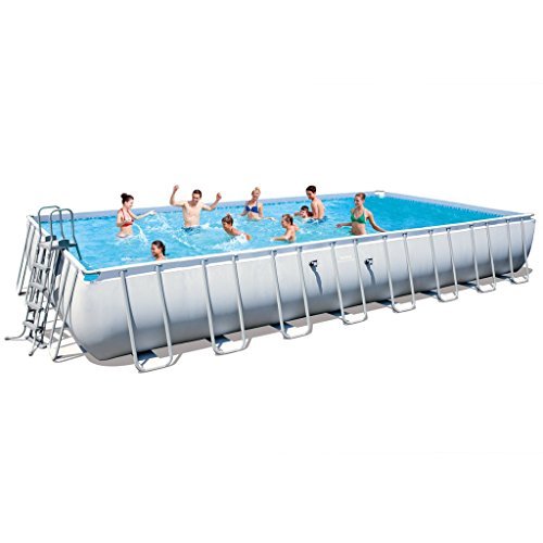 Docooler Bestway Cable de Acero Rectangular Piscina Set 956 x 488 x 132 cm
