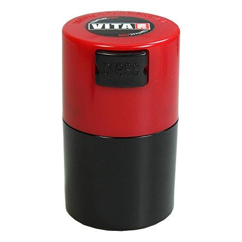 Tightpac Vakuumgefäß 0,06L / Schwarz, Roter Deckel