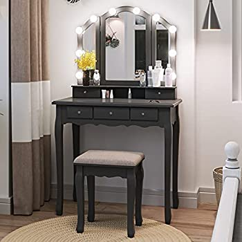 Best makeup table with lights Reviews