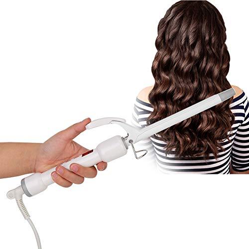 Fer a Boucler 13mm, Céramique Boucleur de Cheveux avec d'affichage à cristaux liquides de température, outil de coiffure électrique rotatif à 360 ° pour différents types de cheveux(UE)
