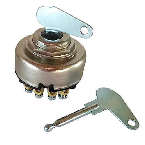 Zündschloss 8 Polig 0-1-2-3 Zündlichtschalter mit 2 Schlüsseln Universal für Auto Traktor Anhänger Bagger Schlepper Rasenmäher