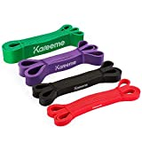 KAREEME Pull Up Assist Bands Heavy Duty Resistance Band for Chin Ups, Body Stretching, Powerlifting, Resistance Training, Workout Exercise Fitness Band Set
