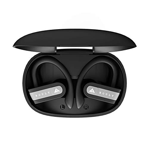 Boult Audio AirBass MuseBuds True Wireless in-Ear Earphones with mic & Magnetic Charging Case, Latest Bluetooth 5.0 Headphone, Auto Pairing & Upto 18 Hours Playtime with Case (Black)
