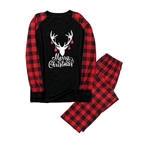 Okseas Weihnachten Schlafanzug Familie Bekleidungssets Herren Weihnachtspyjamas Rot...