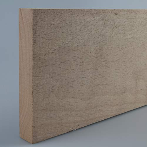 Rechteckleiste Bastelleiste Abschlussleiste aus unbehandeltem Buche-Massivholz 1000 x 20 x 115 mm