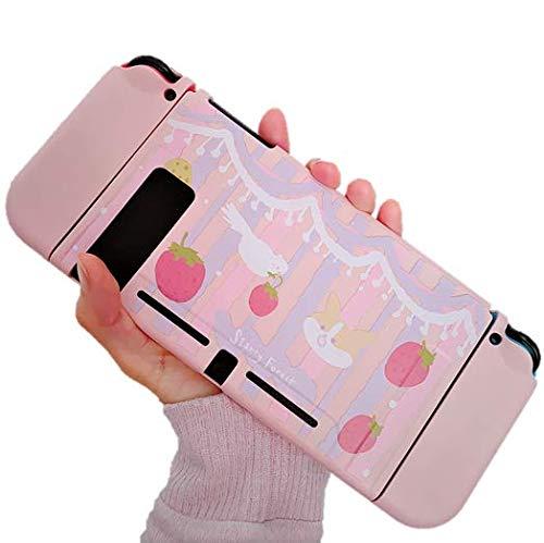 Nintendo Switch  ケース ニンテンドー スイッチ ケース カバー ソフトカバー 指紋防止 tpu素材 ピンクケース イチゴ 犬 鳥 耐衝撃 傷防止 パステルカラー さらさら