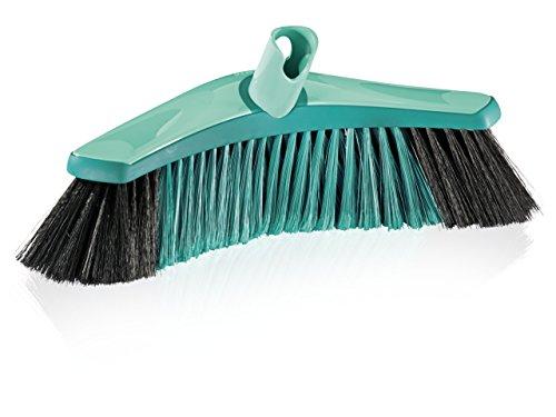 Leifheit Allround Bezem Xtra Clean Collect Plus 30 cm voor grondige reiniging, veegbezem met X-borstelharen van kunststof, bezem zonder steel