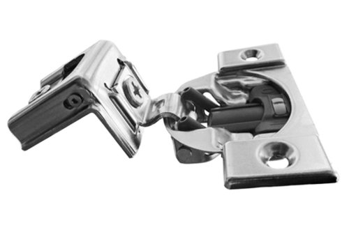 Pro Pack of 10Pcs, Compact Blumotion 39C (New Bmn) Hinge & Plate, For 1-3/8' Overlay, Wraparound, Screw-On