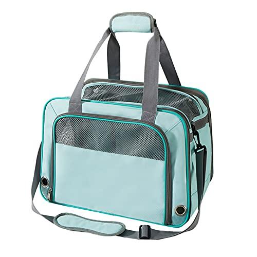 Transportín Gato Perro Carrier de mascotas que llevan para los gatos pequeños perros mochila bolsa de transporte de perros Bolsa Transporte Mascotas (Color : Blue, Size : 43x27x30cm)