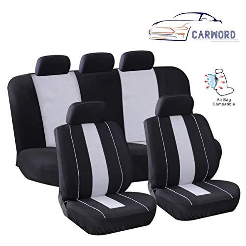 CARWORD Accesorios para Interiores de automóviles 100% Transpirable Airbag Compatible Conjunto Completo Absorbente, Antideslizante, Lavable, para automóviles, SUV y Camiones, Fit-Towel