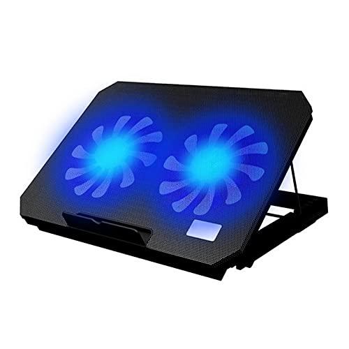 JDJD USB Portátil Refrigerador Ventilador De Enfriamiento Soporte Base 2 Ventilador De Refrigeración Portátil Refrigeración Almohadilla Portátil Soporte Portátil (Color : Black)