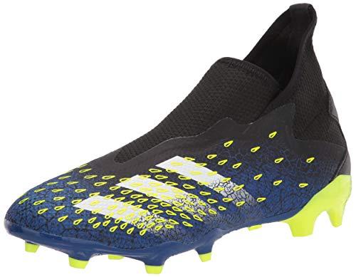 adidas Predator Freak .3 Men's Laceless Firm Ground Soccer Shoe, Black/White/Solar Yellow, Numeric_10_Point_5