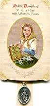 6pc Patron Saints of Healing St. Dymphna (Alzheimer's Disease) Healing Holy Card with Medal