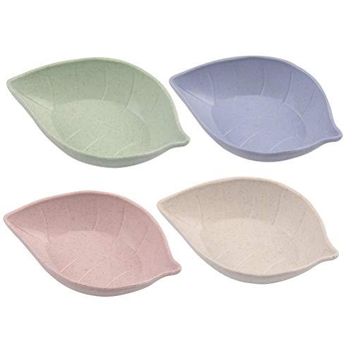 BESTONZON 10pcs plats de sauce bol apéritif plateau de service snack plat bébé enfant bol de riz plaque vaisselle vaisselle fruits boîte à fruits (couleurs assorties)