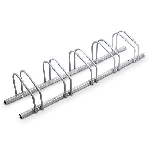 BITUXX® Fahrradständer Aufstellständer Radständer Fahrrad Bike Ständer Metall Platzsparend (Für 5 Fahrräder)