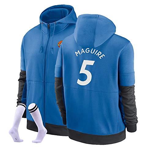 LJF Harry Maguire # 5 Football Sudadera con Capucha Suéter De Fútbol Cálido Y Grueso Sudadera Unisex S-3XL (Color : B, Size : Adult Medium)