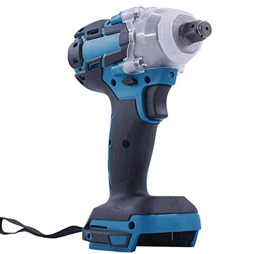 LYYJIAJU Portable Electric Wrench Air Impact Wrench, 1/2 in Cordless Socket Wrench, Hex Impact Driver 21V Electric Rechargeable Brushless Impact Wrench