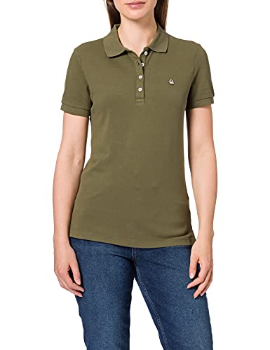 United Colors of Benetton Maglia Polo M/M 3wg9e3173 Camisa, Verde Militar 35a, XS para Mujer