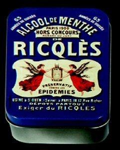 Boite A SAVONS Metal PUB Retro Alcool DE Menthe RICQLES