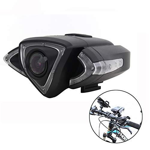 GMtes Multifunktionsfahrrad-Kamera, wasserdicht WiFi vordere und hintere Fahrrad-Videokamera mit Handy-Halter, LED-Blinker und Warnleuchten, Tachometer, GPS,Front