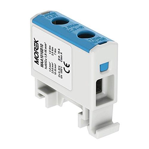 Verteilerblock f. Al/Cu geeignet 1,5-16mm2 blau 1pol. 1000V AC/DC Klemme isoliert OTL 16 MAA1016B10 Morek 3743