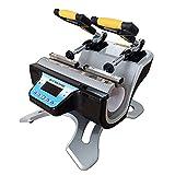 US Stock 110V Automatic Mini Double Station Mug Heat Press Transfer Machine for 6OZ 9OZ 11OZ 12OZ 17OZ Mug Printing DIY 2 Mugs Sublimation Printing