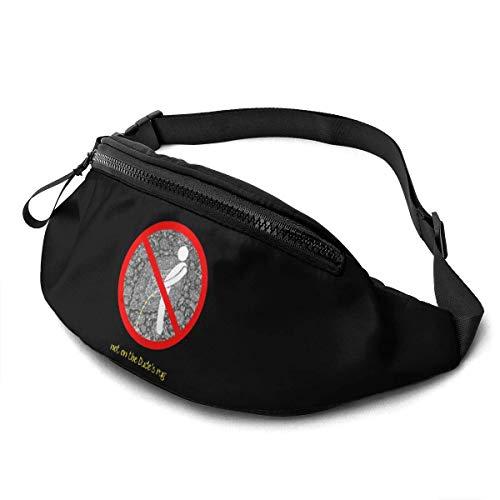 AOOEDM Gürteltasche für Männer Frauen, pinkeln Sie Nicht auf den Dude 'S Teppich Casual Outdoor Taillentasche für Workout Travel Wandern