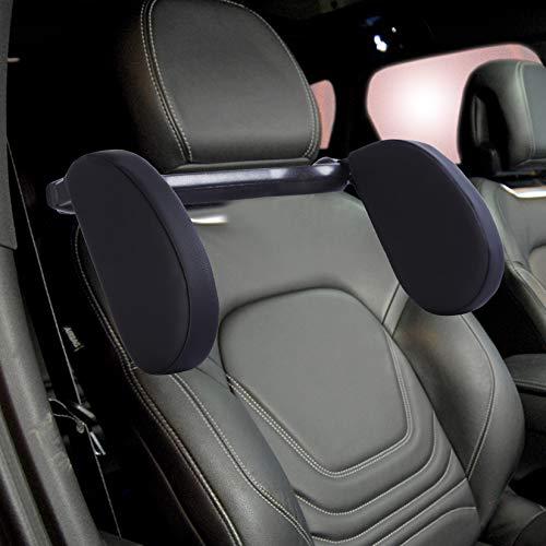 Car Headrest Pillow Road Pal Headrest Car Booster Seat Pillow, U Shape Car Travel Pillow Car Head Neck Support for Kids and Adults