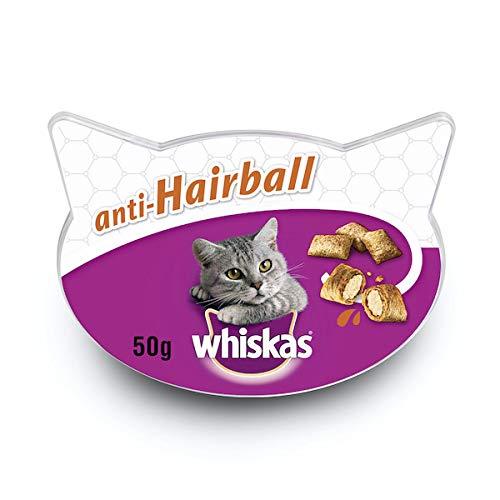 Whiskas Anti-Hairball para evitar las Bolas de Pelo en Gatos (Pack de 8 x 60g)