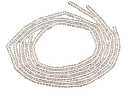 Bergkristall Stränge - facettierte Rondelle 2x3 mm klar, 3 er Pack
