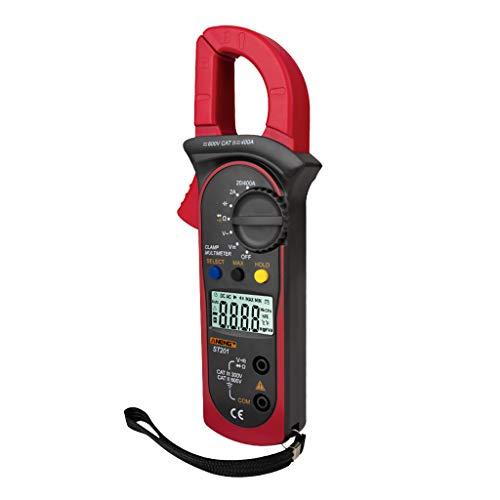 H HILABEE Strömtång multimeter strömtång voltmeter amperemeter – röd, 206 mm