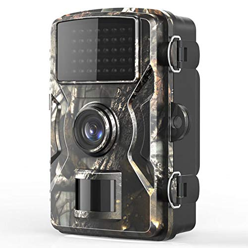 Camaras de Caza Vision Nocturna FHD 1080P Trail Camera con Pantalla LCD en Color de 2' Incorporada IP66 Impermeable Gran Angular de 120° Visión Nocturna para Observar los Hábitos de los Animale