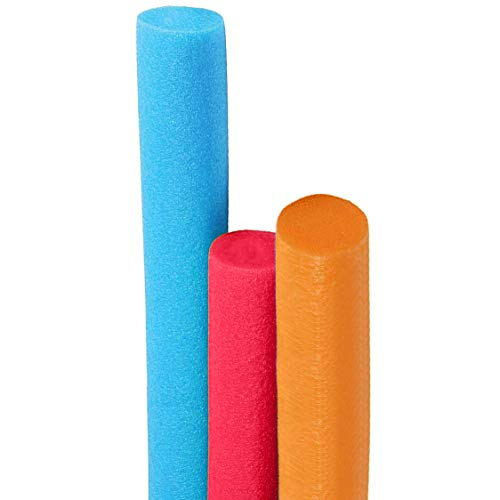 Deluxe Floating Pool Noodles Foam Tube, Super Thick Noodles for Floating in The Swimming Pool, Assorted Colors, 52 Inches Long (3-Pack)