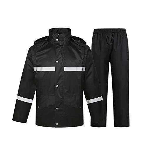 MinMin MM Warnweste Pflicht Anti-Regenmantel-Klage Reflektierende Kleidung Thick Langärmelig Reflektierende Regenmantel, eine Vielzahl von Größen kann wählen Betriebssicherheit (Size : XXL)