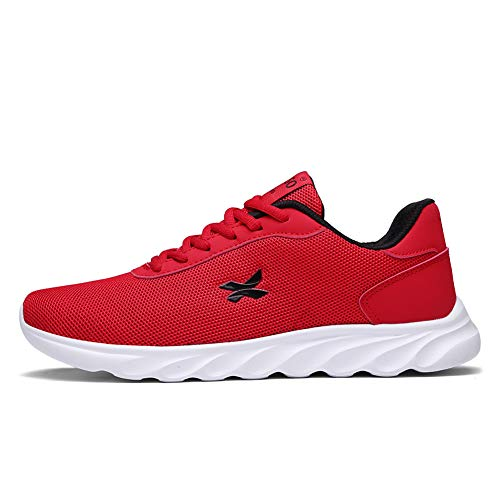 XIDISO Herren Damen Leichte Laufschuhe Atmungsaktiv Turnschuhe Freizeitschuhe Sportschuhe Sneaker