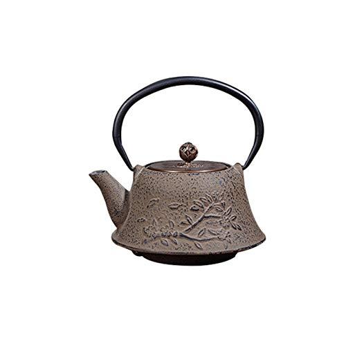 Ciruela flor hierro fundido olla japonesa té conjunto agua
